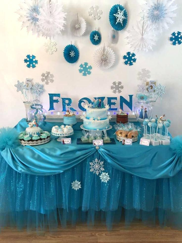 fancy frozen party decoration ideas frozen birthday party ideas