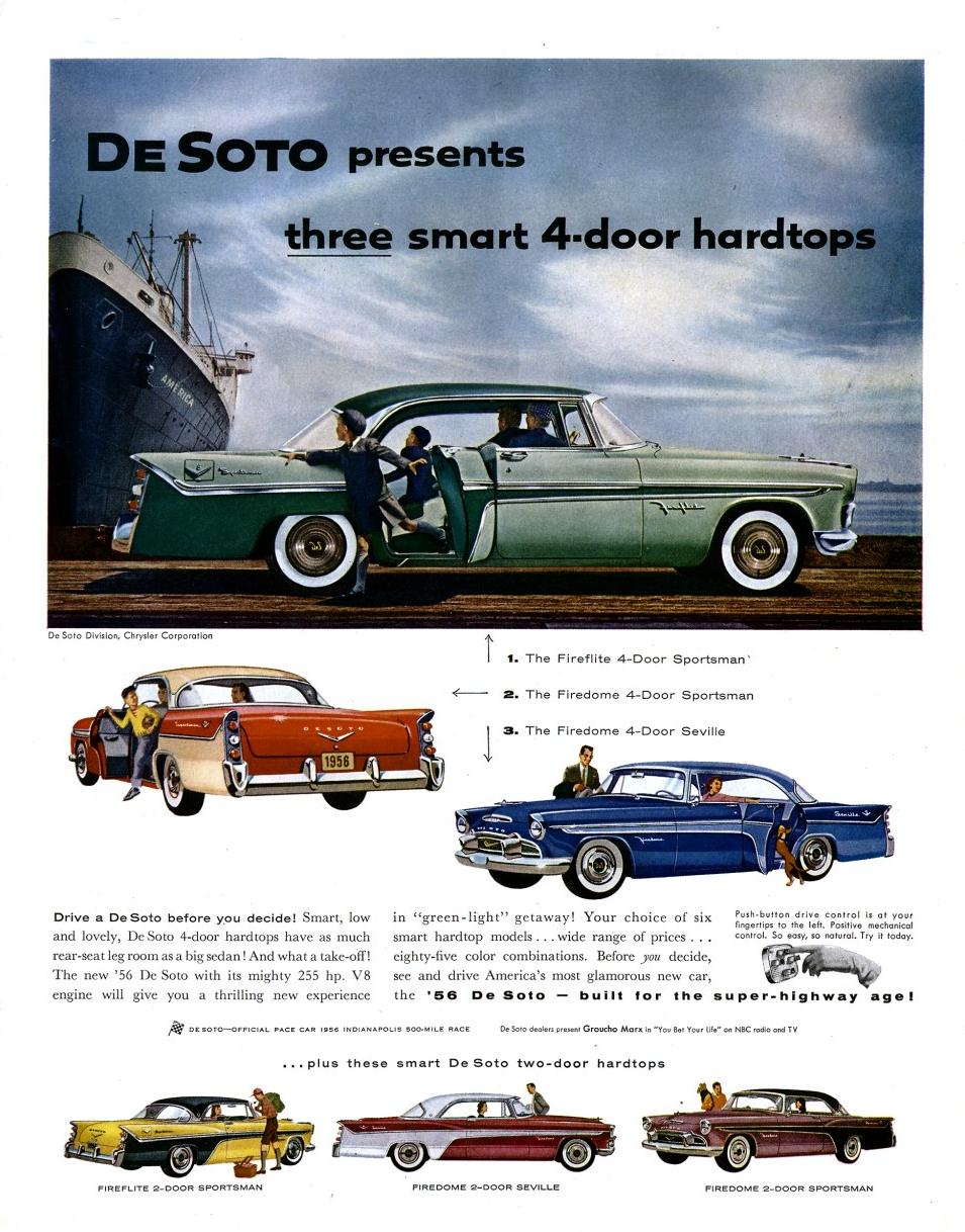 1956 desoto firedome seville 4 door hardtop 1 of 10 - 1956 Desotos