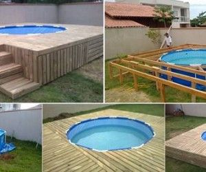 20 creative ideas and diy projects to repurpose old for Above ground pool storage ideas