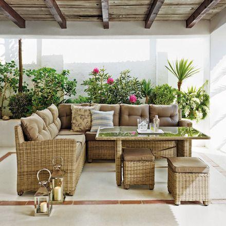 Set de jard n el corte ingl s provenza 2 m dulos sof 2 for Mesas y sillas de jardin en el corte ingles