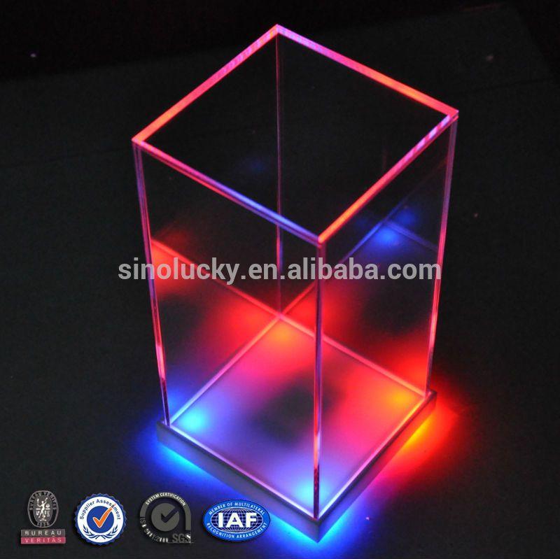 Top New Clear Cube Acrylic Led Display Box /customized Acrylic Display  DE85