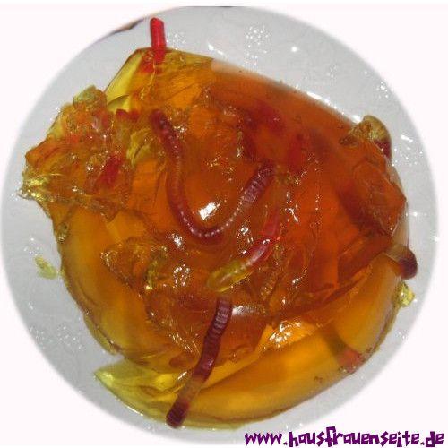 Halloween Rezepte Wurmer.Wurmerpudding Halloweenrezept Mit Bild Rezept Pudding Rezepte Wackelpudding