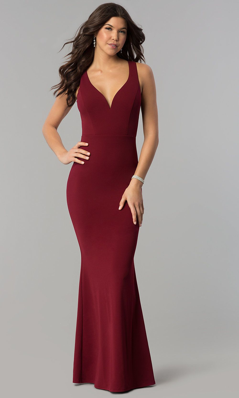 072e006622ee Long Mermaid Prom Dress with Decolletage V-Neckline in 2019 | Black ...