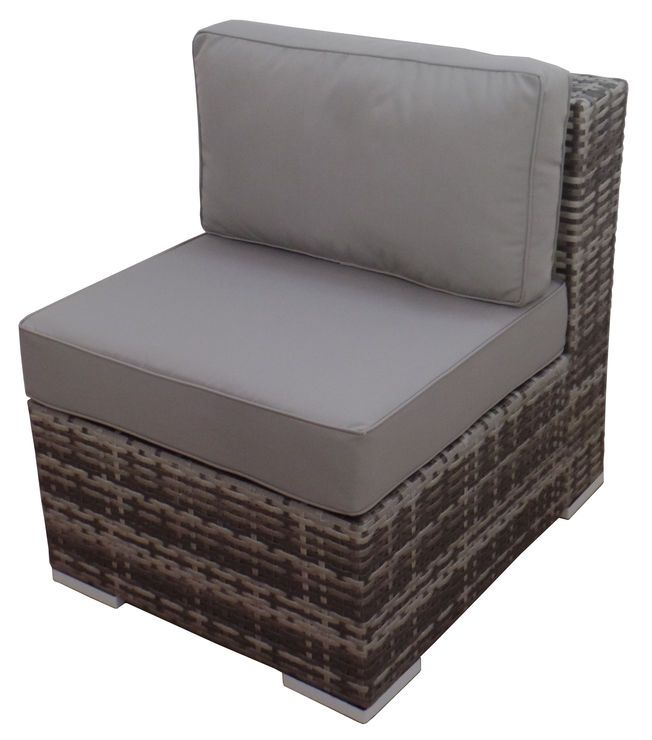 Peachy Weston Outdoor Wicker Armless Chair Gray Patio Ideas Pabps2019 Chair Design Images Pabps2019Com