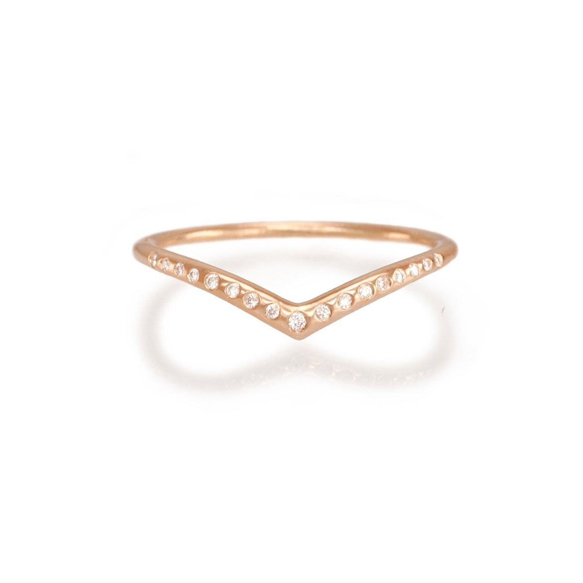 Rose gold diamond archer ring by katrina lapenne seventeen stunning