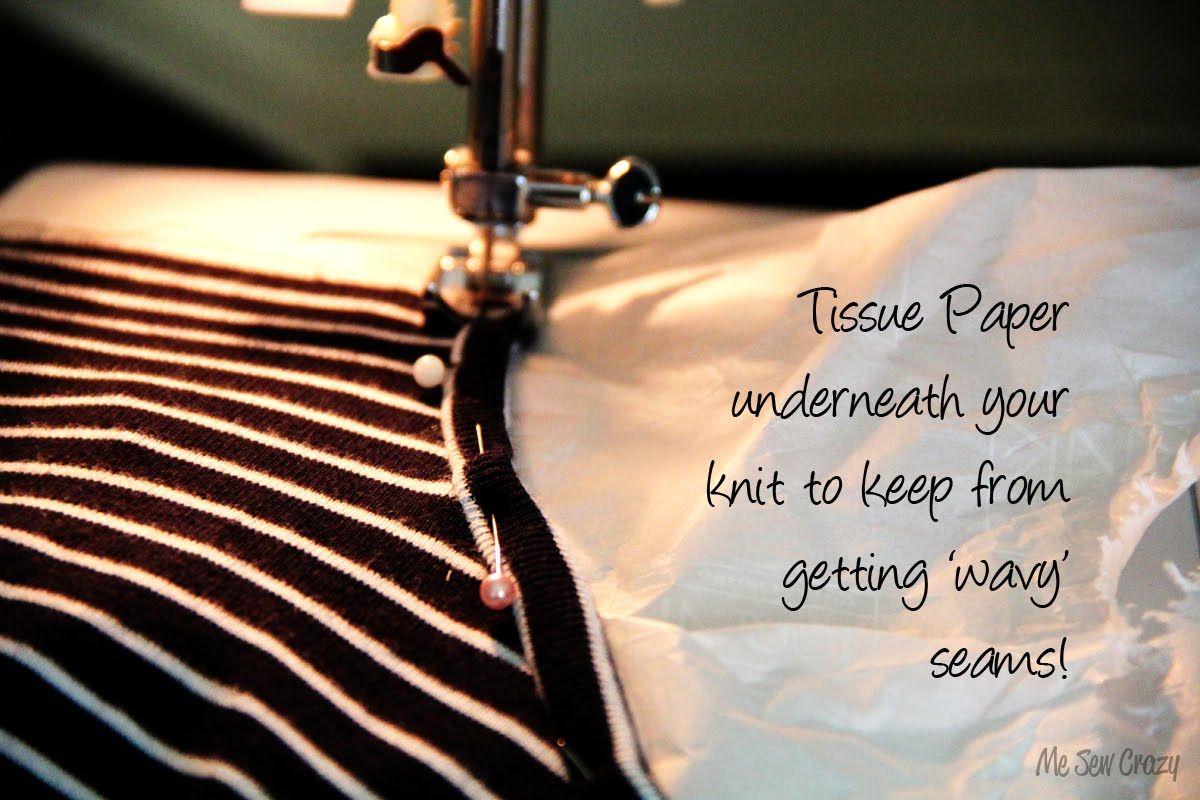 stop knits from having wavy seams...