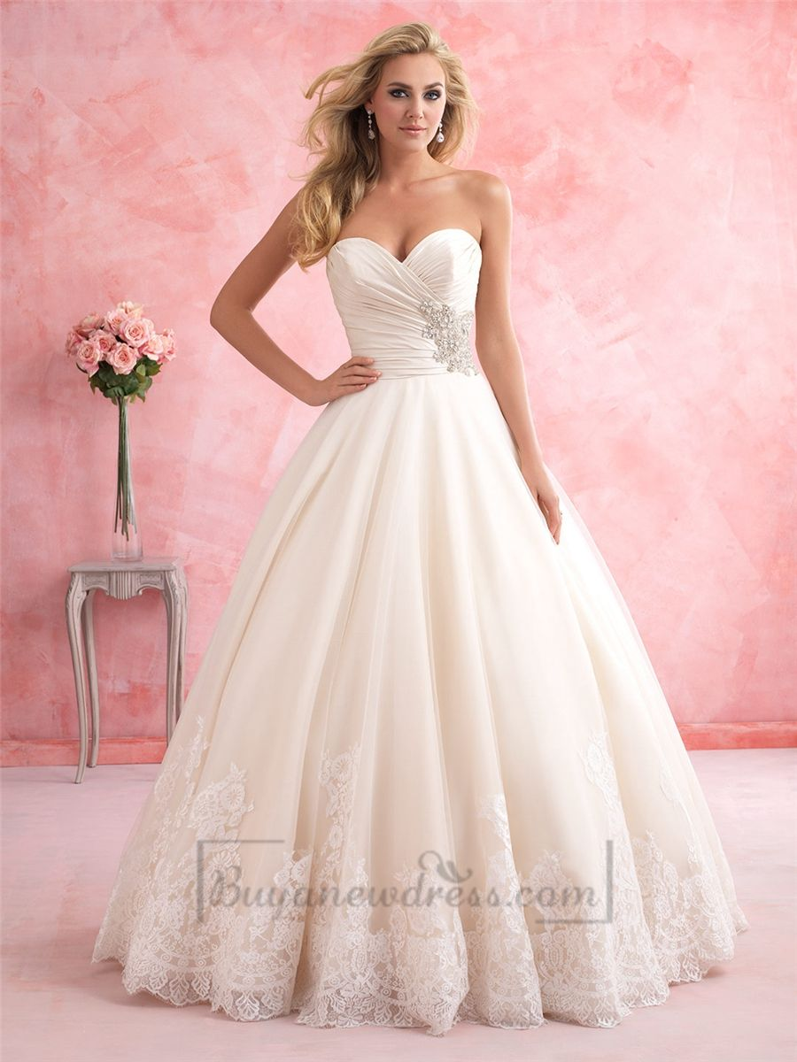 Gorgeous Strapless Sweetheart A-line Wedding Dress | fashion | Pinterest