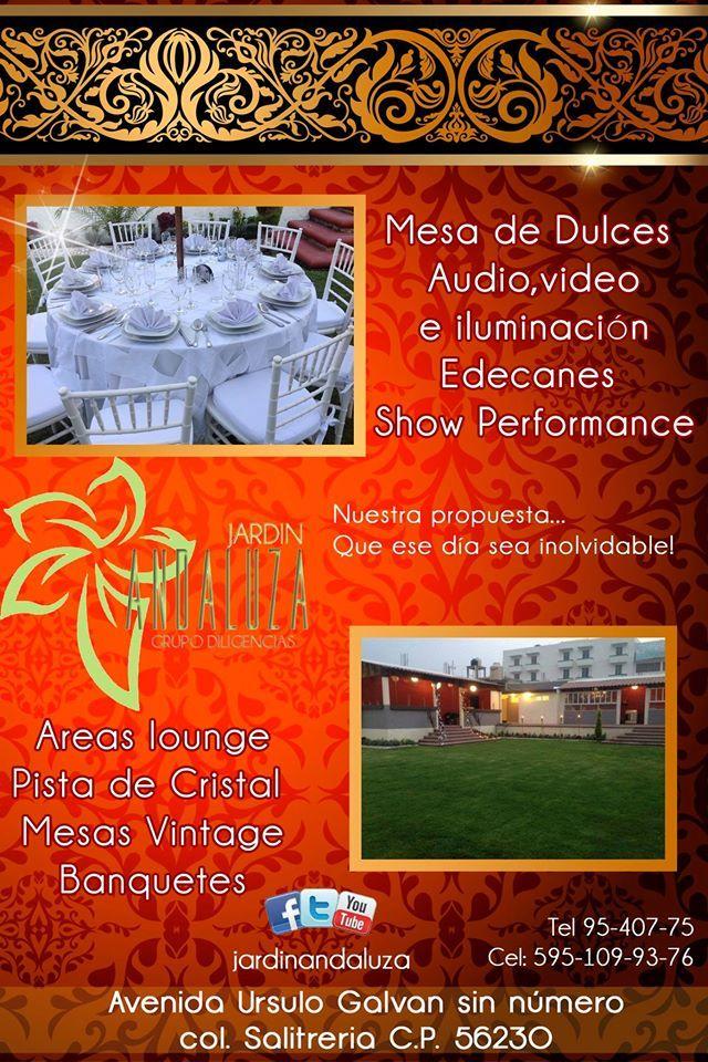 Haz de tus fiestas un recuerdo inolvidable solo en Jardín Andaluza! https://www.facebook.com/jardin.andaluza.5?fref=ts