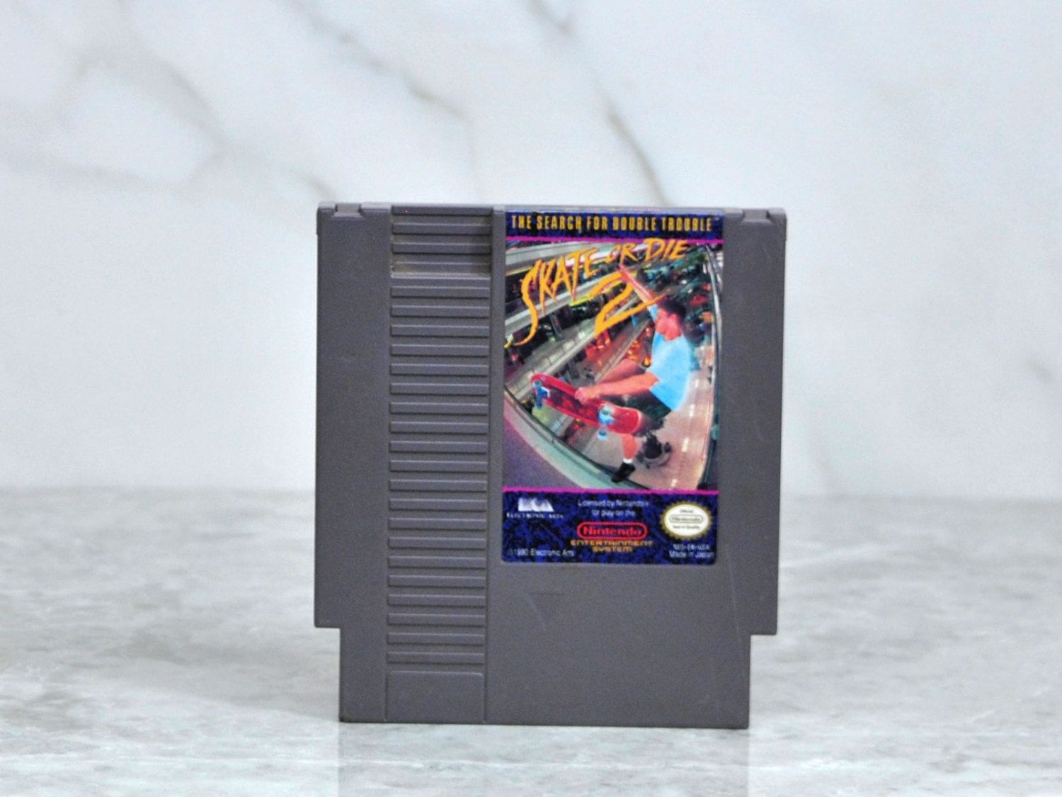 Vintage Nintendo Nes Game 8 Bit Skate Or Die 2 By Electronic Arts 1990 Double Trouble Skateboarding Paintball Nintendo Nes Games Nintendo Nes Nes Games