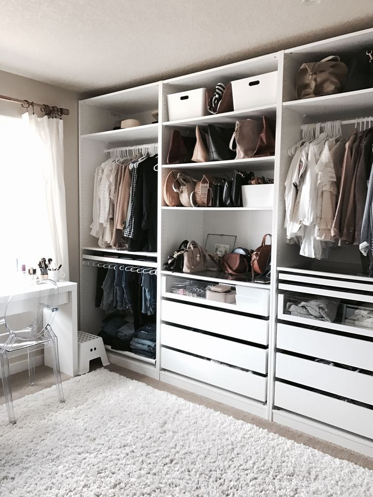 Crystalin marie 39 s walk in closet i love how organised for Adding a walk in closet