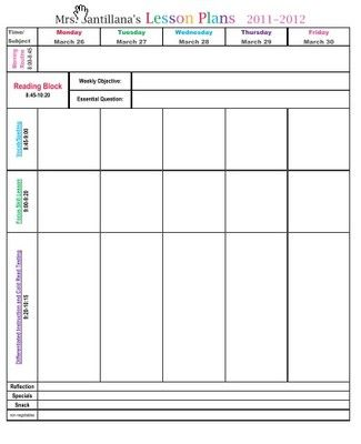 Lesson Plan Format From Learning With Mrs S On Teachersnotebook