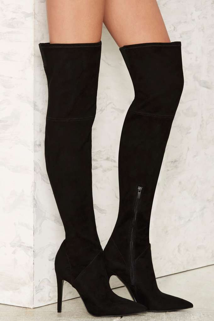 1c0cdcfaa84 Kendall + Kylie Aya Vegan Suede Boot | Shop Shoes at Nasty Gal ...