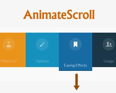 Animatescroll Jquery Plugin For Animating The Scroll Plugins Jquery Web Development Design