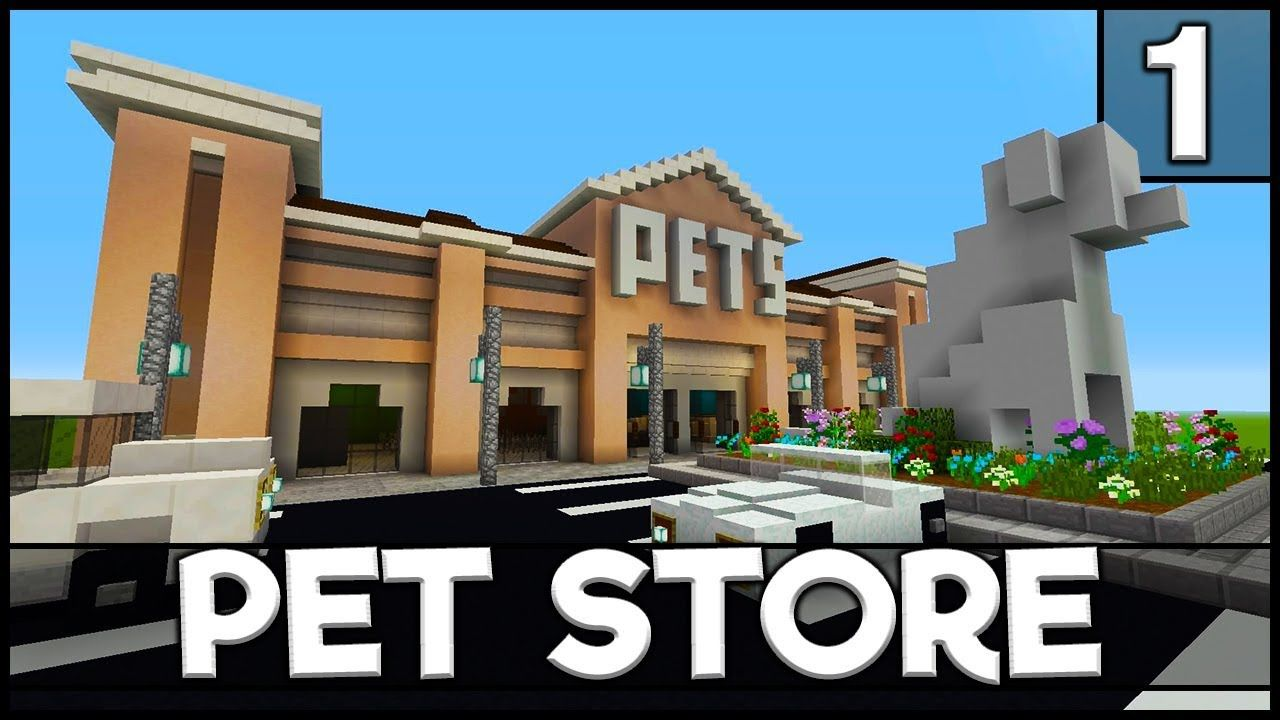 Minecraft How To Build A Pet Store Part 1 Minecraft City Minecraft Shops Minecraft Creations