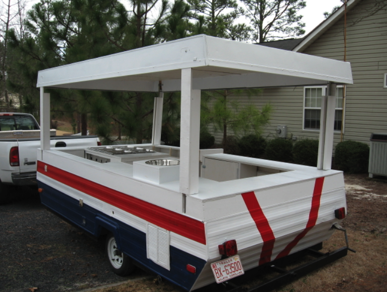 Sweet Pop Up Trailer Hot Dog Cart Conversion Awesome Love It