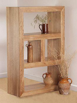 Nero solid oak bookcase storage unit new house living room design for Oak shelving units living room