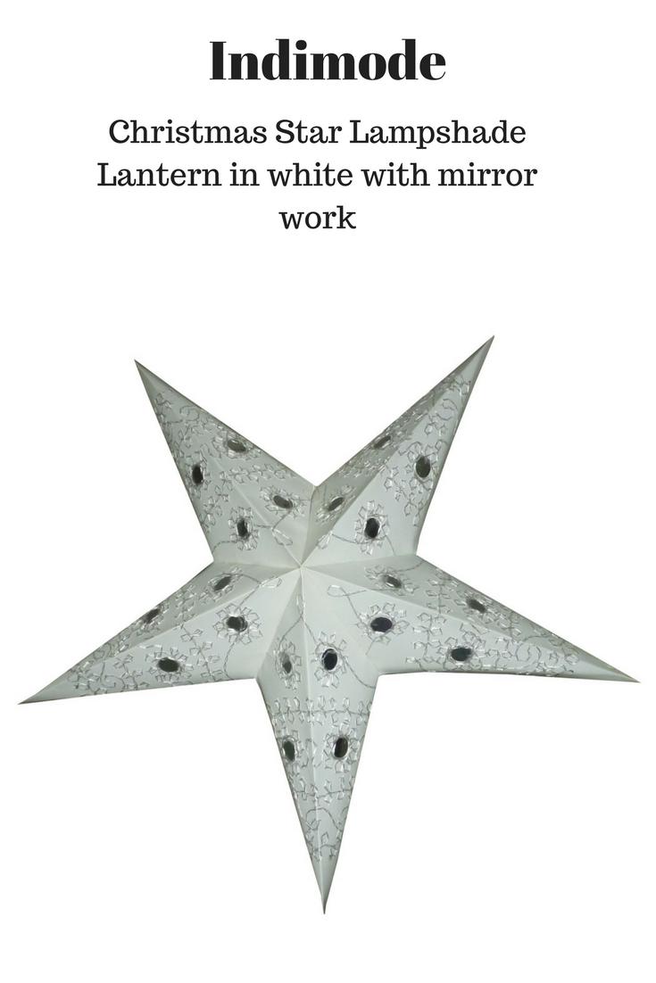 White Christmas Star Lantern With Round Mirror Work Christmasstar Starlampshade Indimodelighting Star Lanterns Star Lampshade Christmas Star