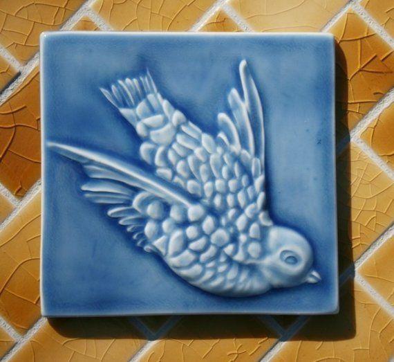 Decorative 4X4 Ceramic Tiles New 4X4 Decorative Ceramic Tiles  Bird Flying  Victorian Style Inspiration