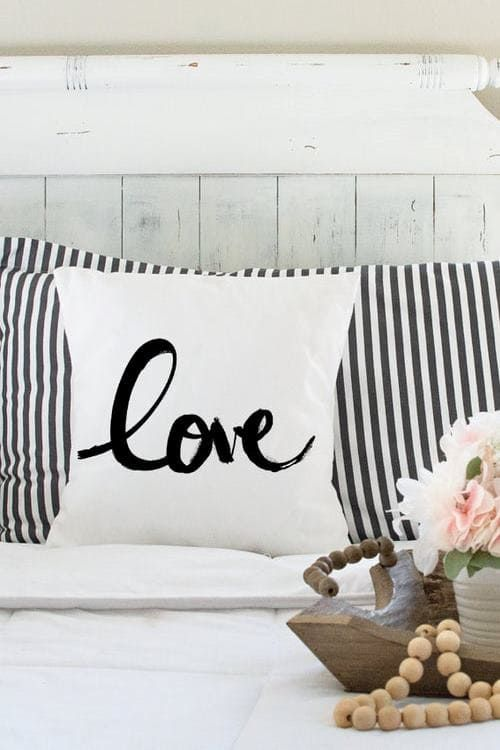 Love Pillow Beautiful and very cozy Boho Chic Love Cushion by EverestAndGray Perfect for Valentine's Day decor or even a wedding gift!!🖤 #valentinesdaydecor #lovecushion #lovepillow #bohodecor #bohocushion #lovedetails #lovedecor #detailsoflove #romanticdecor