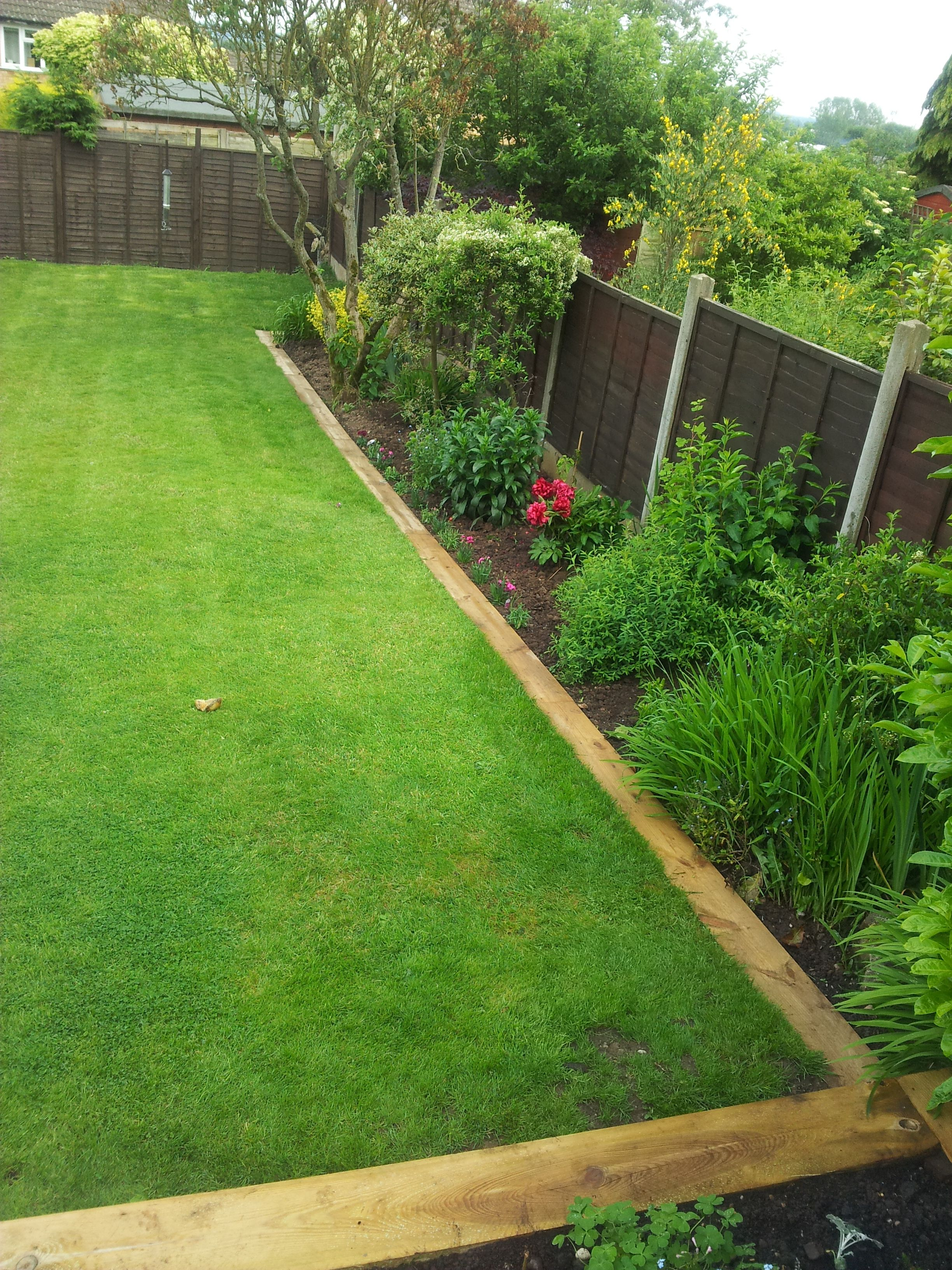 Photo of Our garden now with railway sleepers, really pleased