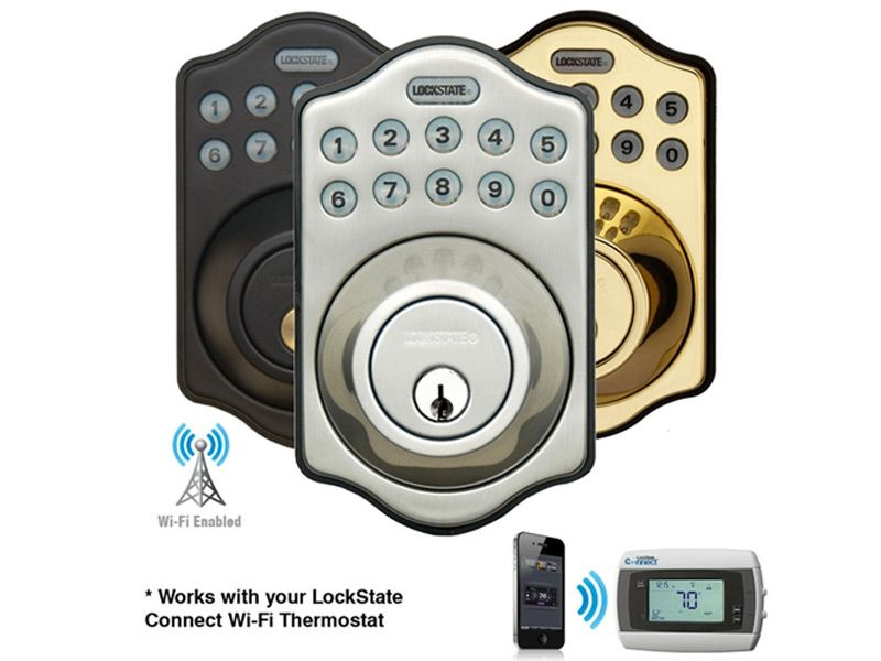 Lockstate S Remotelock 500i Wifi Keyless Door Lock Electronic Deadbolt Keyless Deadbolt Deadbolt