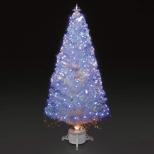 white fibre optic christmas tree artificial christmas tree