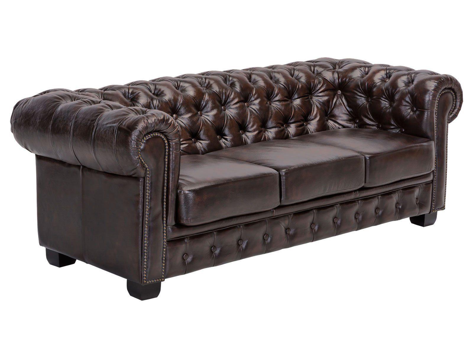 Woodkings C Chesterfield Sofa 3 Sitzer Braun Vintage Echtleder Couch B Rosofa Polsterm Bel 3 Sitzer Antik Designsofa Federke In 2020 Chesterfield Chair Decor