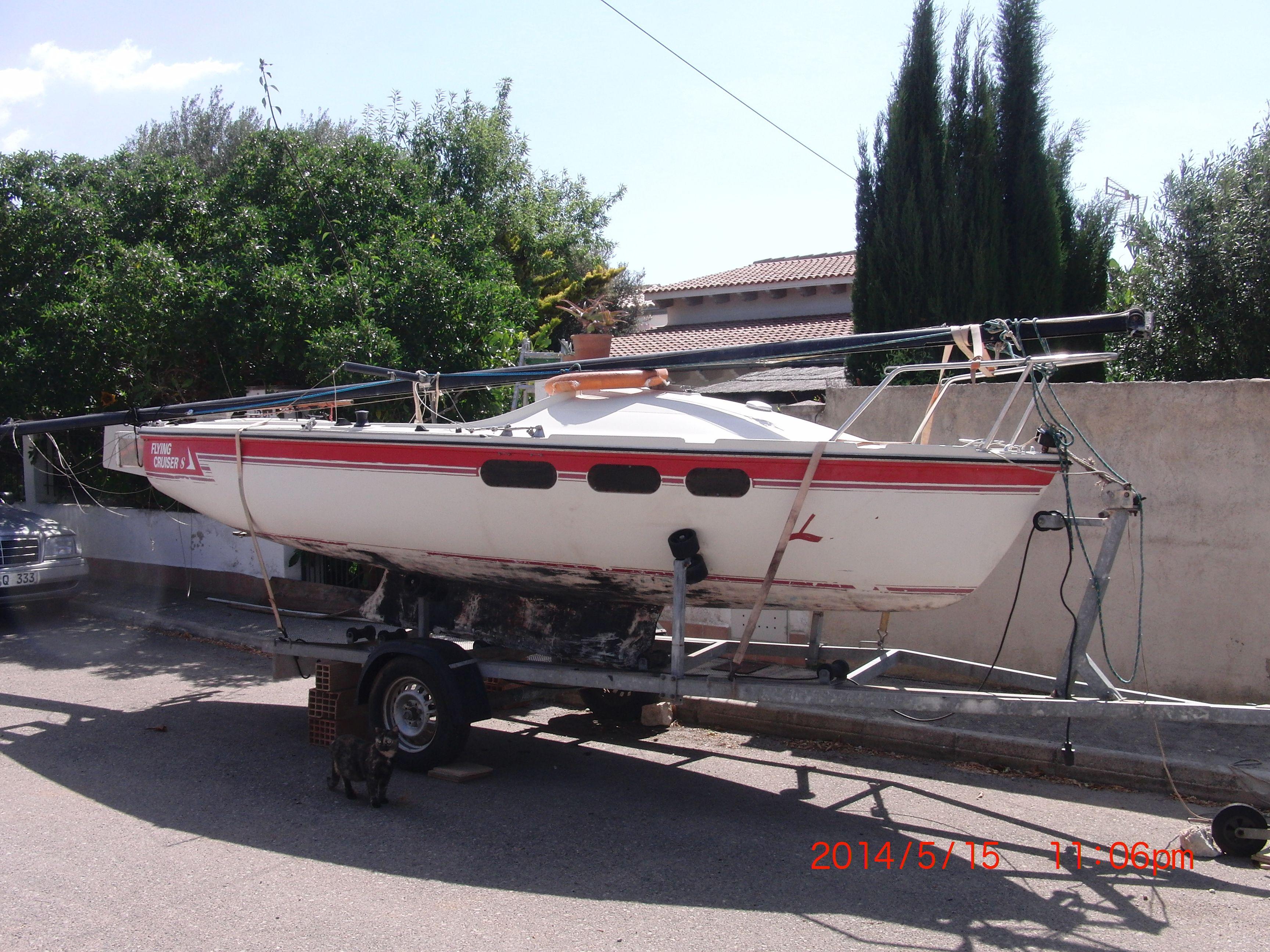 segelboot flying cruiser s bwc mit trailer auf mallorca. Black Bedroom Furniture Sets. Home Design Ideas