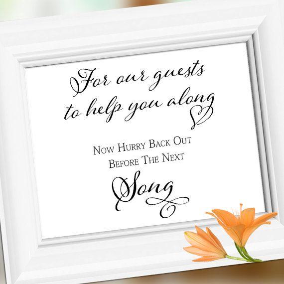 Wedding Signage Sign Wedding Bathroom Sign You By