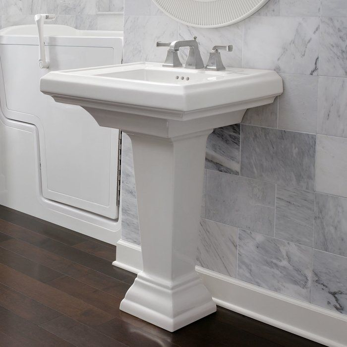 Manhattan Vitreous China Rectangular Drop In Bathroom Sink