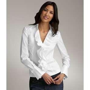 white ruffle shirt women - Google Search | My Style | Pinterest ...
