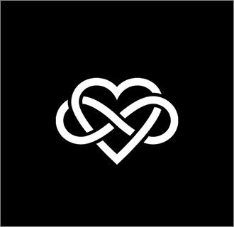 love infinity with a little more of a rounded heart- if I were to ever get a tattoo