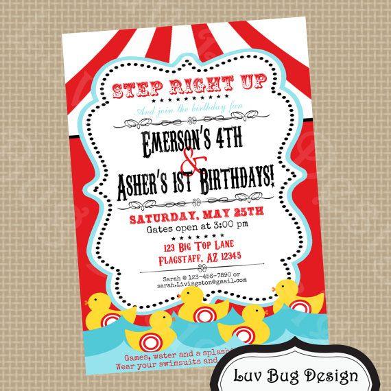 free printable carnival party invitations vintage carnival