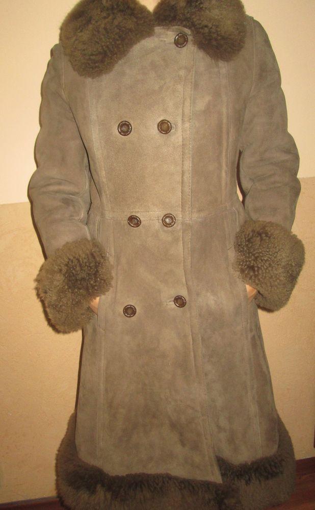 7196403b86f8db Women s fur coat sheep lamb brown perfect wonderful warm coat-UNUSED ...