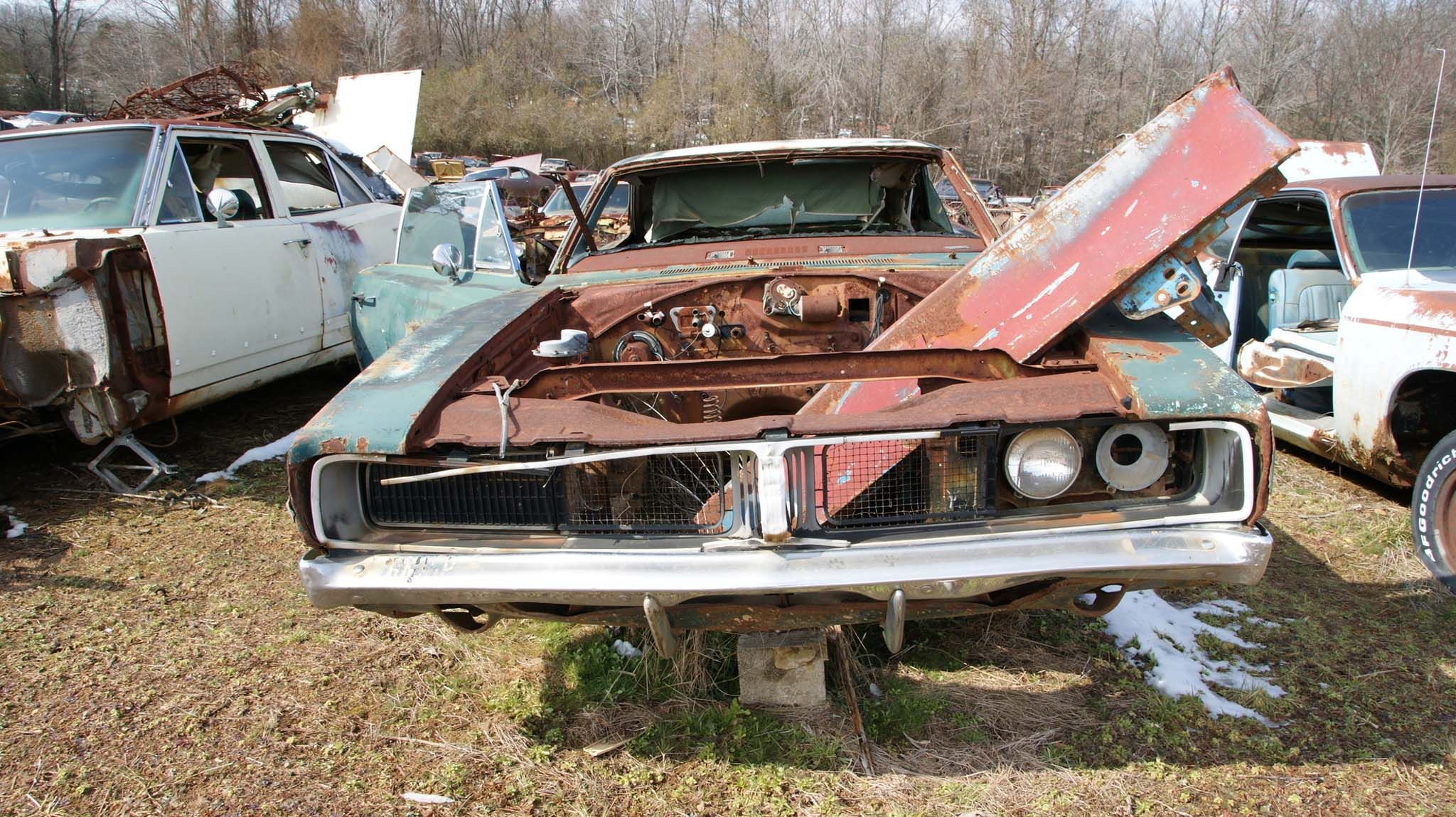 The Largest Mopar Salvage Yard in the World is Full of Chargers and ...