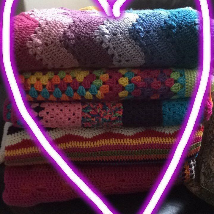Close up of my blankets I love them all.  Which one do you like the most?  #ielts #learnenglish #businessenglish #englishconversation #todaysquestion #crochetlove #needmorecrochetblankets