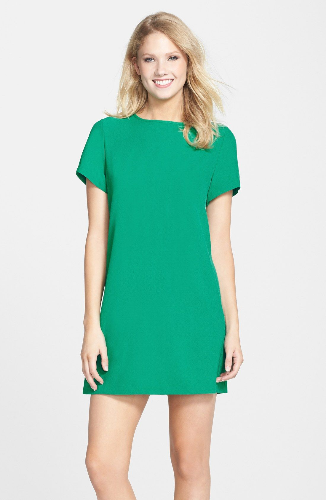 Devery Crepe Shift Dress | Nordstrom, Crepes and Sleeved dress