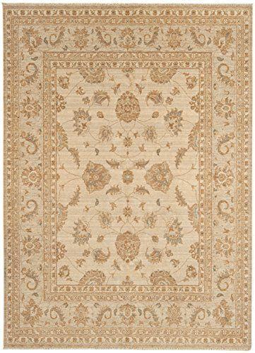 Teppich Wohnzimmer Carpet Orientalisches Design CHOBI CLASSIC RUG 100 Wolle 160x230 Cm Rechteckig Creme