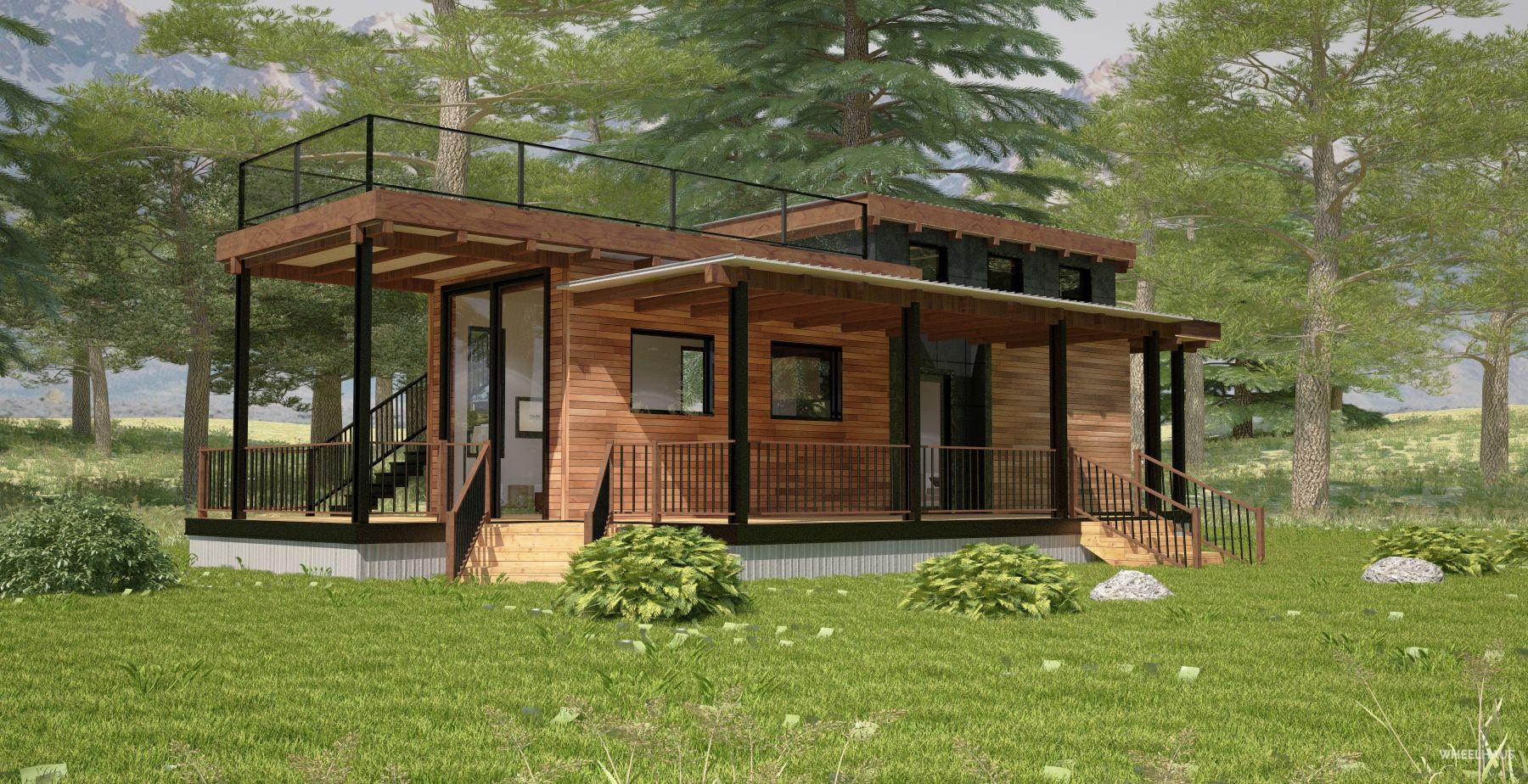 Best Similar To The Caboose The Flat Roof Caboose Maximizes Both Indoor And Outdoor Space With 400 x 300
