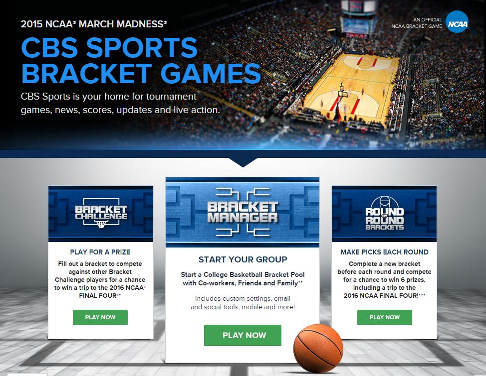 CBS Sports Bracket Games CBSSports app March madness