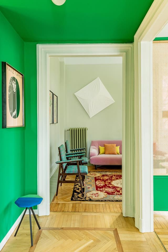 this colorful apartment in milan will make you happy with