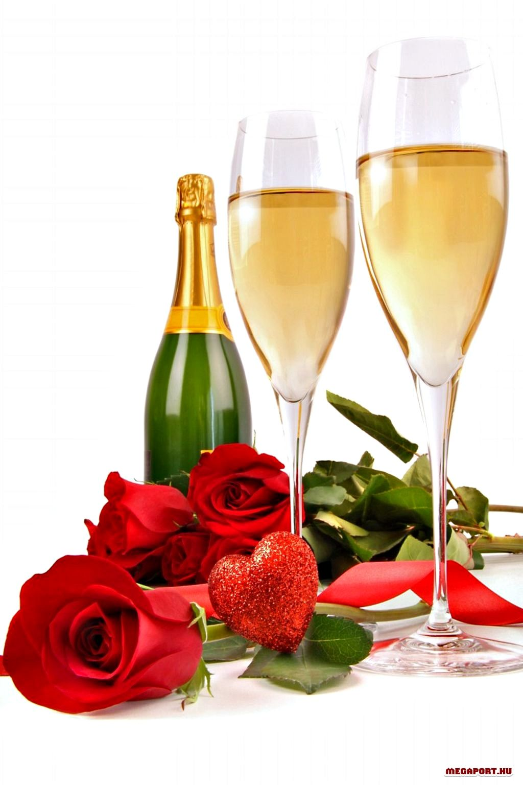 Beautiful Hearts Animations Champagne Wine Bottle Images Valentines Day Hearts