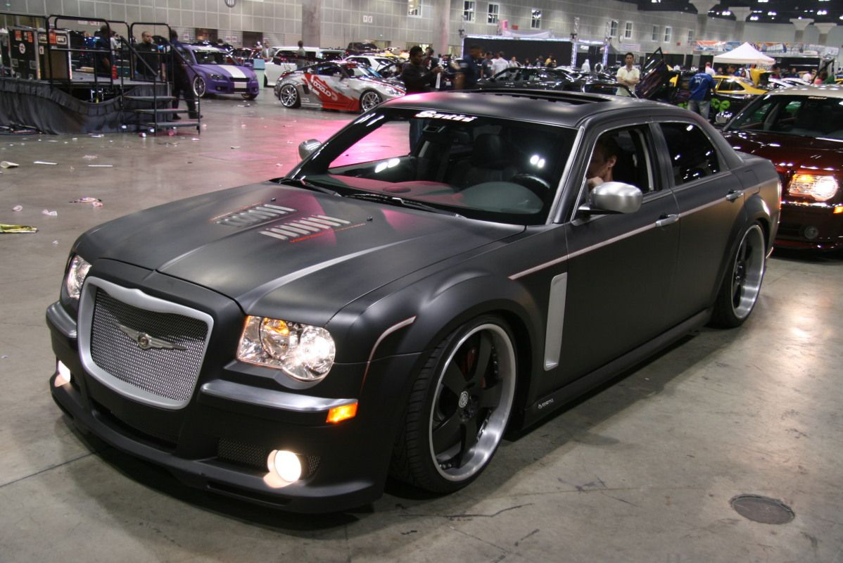 Matte Black Chrysler 300c Hd With Images Chrysler 300c