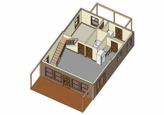 Cabin Floor Plans like the stairs to loft cabin stairs