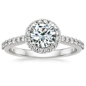 ring round bridal diamond tapered bold engagement rings baguette sylvie side center