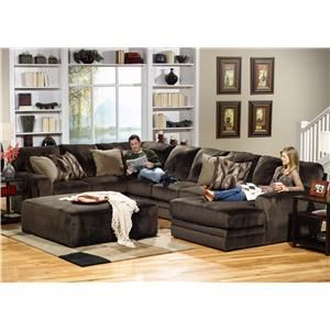 4377 Everest 3 Piece Sectional With Rsf Section By Jackson Furniture
