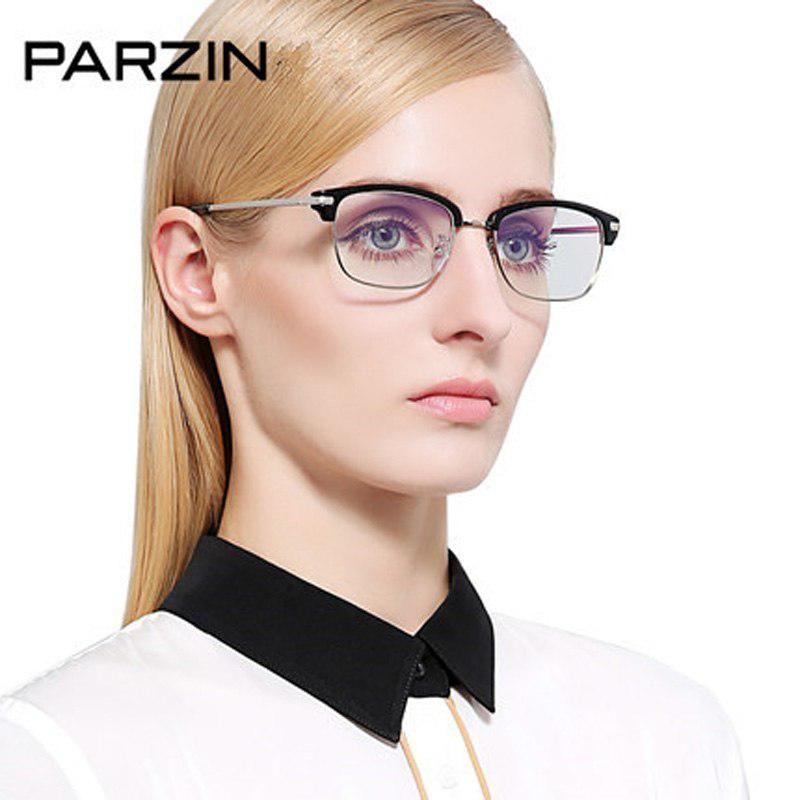 8f6a8b3b0e Parzin Eyeglasses Frame Half Box Male Women Tr90 Vintage Glasses Myopia  Glasses Plain Mirror With Box