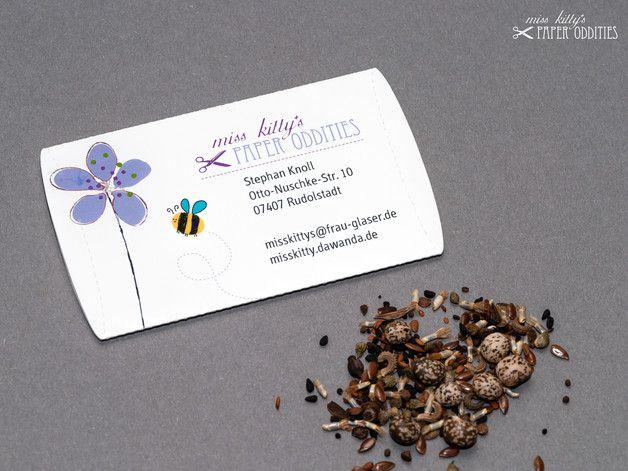 Visitenkarten Gefüllt Mit Wild Blumensamen Nicht Nur Für