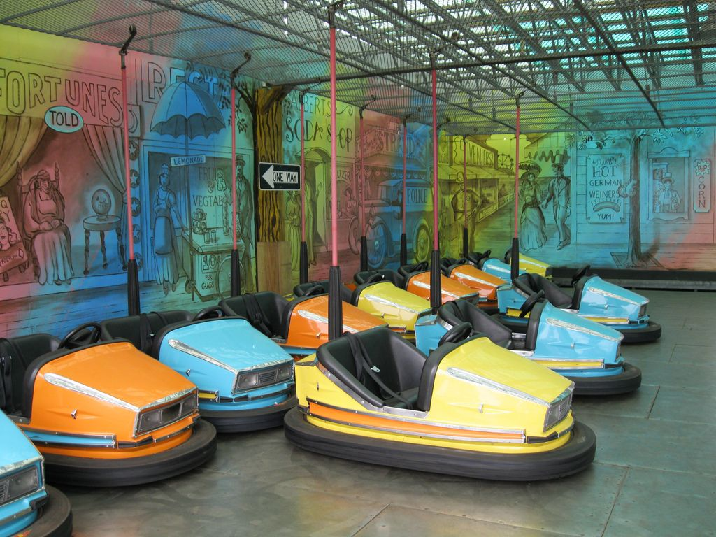 The Super Scooters ride is bumper cars for the big kids