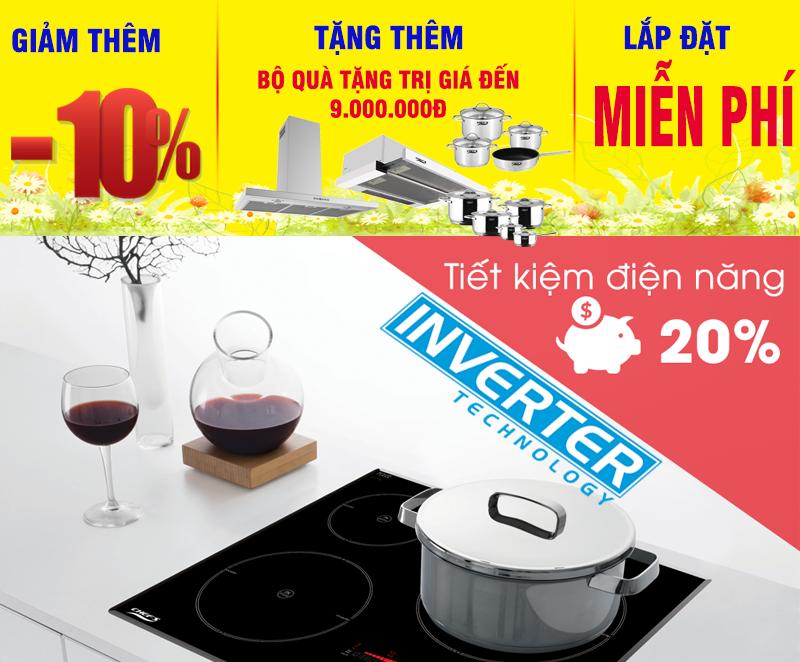 Khuyến mãi bếp từ chefs inverter